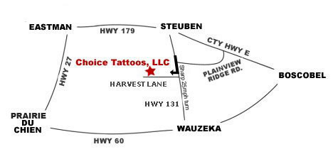 Choice Tattoos, LLC - Directions